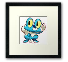 Blue Pokemon Framed Print