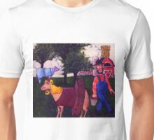 Dairy Farmer with his Favorite Cows Unisex T-Shirt