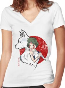 Wolf Blood Women's Fitted V-Neck T-Shirt
