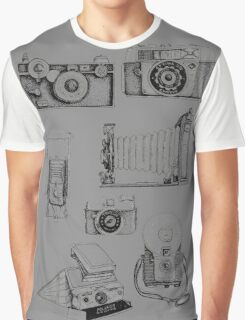 Vintage Camera Collection Graphic T-Shirt