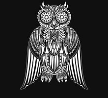 Hand-Drawn Owl illustration with abstract pattern Unisex T-Shirt
