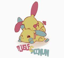 Plusle & Minun One Piece - Short Sleeve