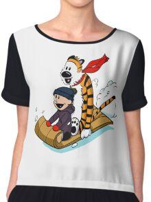 Calvin and hobbes Chiffon Top
