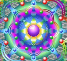 Mandala Psychedelic Art Design Sticker
