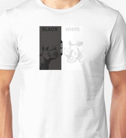 Color: Black/White Rhinos Unisex T-Shirt