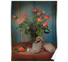 Roses And Pointe Shoes Poster