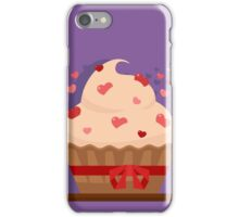 Happy Valentine's Day Greeting Cards. Air Baloon, Present with Love, Cupcake and Whale. Illustration in flat style iPhone Case/Skin