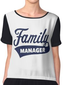 Family Manager (Navy) Chiffon Top