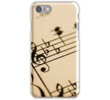 CreamySheet Music iPhone Case/Skin