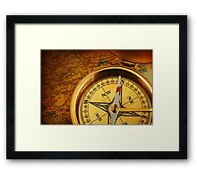 Compass for a captain Framed Print