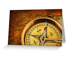 Compass for a captain Greeting Card