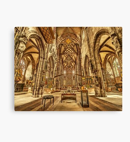 St. Lorenz medieval church Nuremberg Germany Canvas Print
