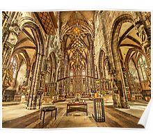 St. Lorenz medieval church Nuremberg Germany Poster