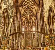 St. Lorenz medieval church Nuremberg Germany Sticker