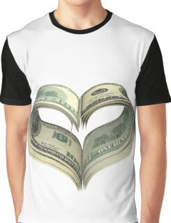 Valentine heart shape made by dollars Graphic T-Shirt
