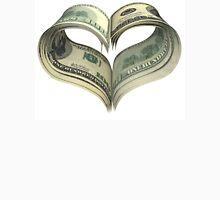 Valentine heart shape made by dollars Unisex T-Shirt
