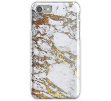 Golden marble iPhone Case/Skin