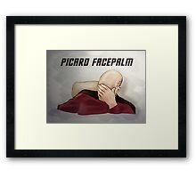 Picard facepalm Framed Print