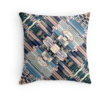 Continuous City Structures Throw Pillow