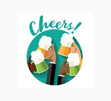 Cheers festive toasting hands with mugs of beer Unisex T-Shirt
