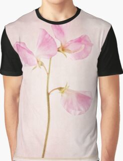 Pink Sweet Pea Graphic T-Shirt