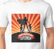 Happy Mother's Day Supermom with kids burst Unisex T-Shirt