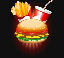 Fast Food Hamburger Fries and Drink Unisex T-Shirt