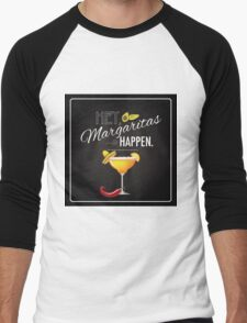 Hey Margaritas Happen design Men's Baseball ¾ T-Shirt