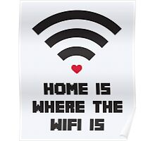 Home Where WiFi Is Funny Quote Poster