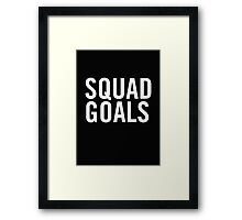 Squad Goals (White) Framed Print