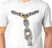 The chains connected by chain link Unisex T-Shirt