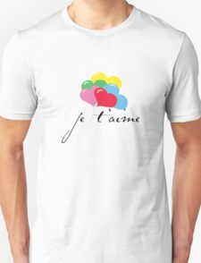 je' taime with balloons (I love you) Unisex T-Shirt