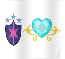 My little Pony - Shining Armor + Princess Cadence Cutie Mark Poster
