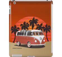21 Window VW Bus Red Surfboard on the Beach iPad Case/Skin