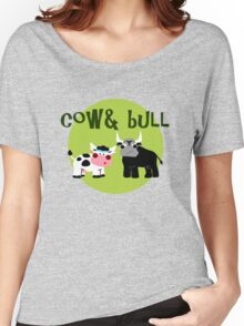 Cow & Bull Women's Relaxed Fit T-Shirt