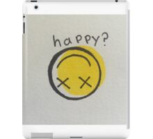 HAPPY? iPad Case/Skin