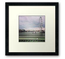 London Thames Overlook Framed Print