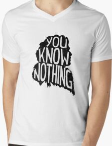 You know nothing, quote (black) Mens V-Neck T-Shirt