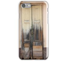 Weathered Yellow Wood Door iPhone Case/Skin