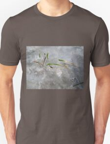 blades of grass in ice Unisex T-Shirt