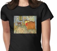 'Van Gogh's Bedroom' by Vincent Van Gogh (Reproduction) Womens Fitted T-Shirt