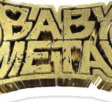baby metal 3D logo metal resistance Sticker