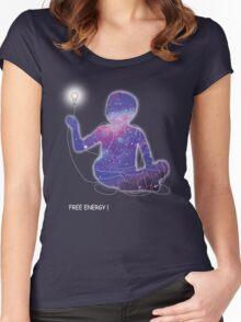 Free energy Women's Fitted Scoop T-Shirt