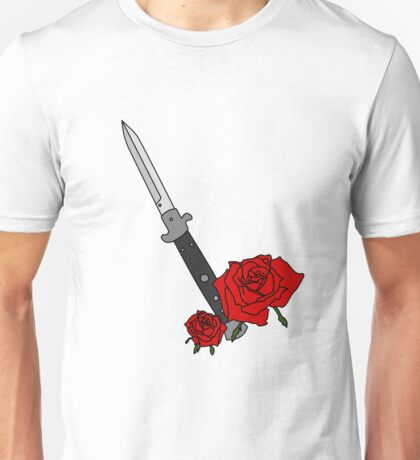 Switchblade with Rose Unisex T-Shirt