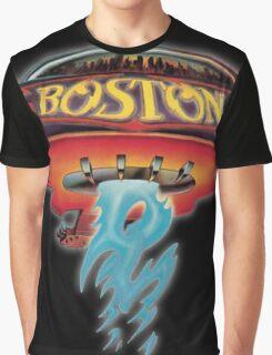 Boston Artwork (Band) Graphic T-Shirt