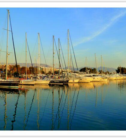 Greek sailing boats Sticker