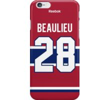 Montreal Canadiens Nathan Beaulieu Jersey Back Phone Case iPhone Case/Skin