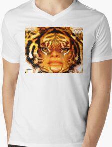 Tigress Mens V-Neck T-Shirt