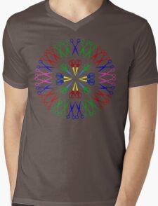 Scissors Design Mens V-Neck T-Shirt