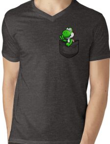 Pocket Yoshi Mens V-Neck T-Shirt